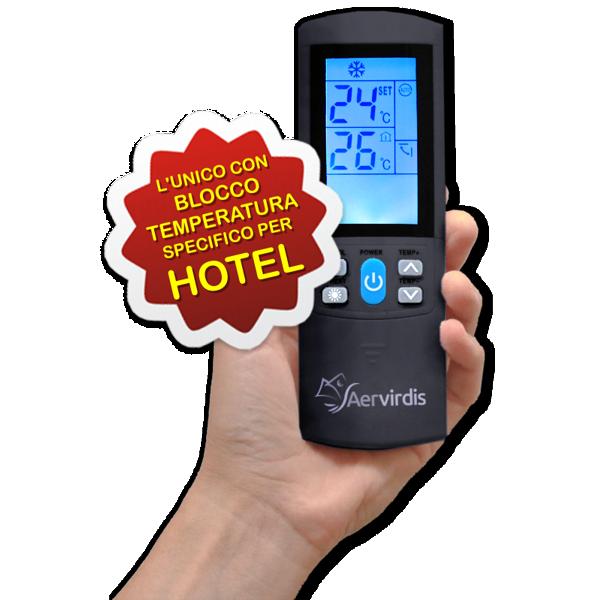 Aervirdis Mod. MINUS - telecomando speciale per hotel con blocco delle temperature
