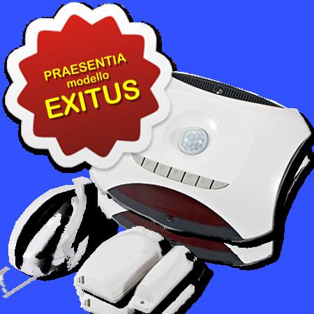 AerVirdis - Praesentia EXITUS: sensore di presenza movimento e prossimità ad infrarossi per condizionatori con controllo porte/finestre