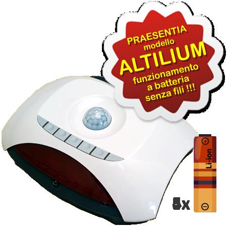 AerVirdis - Praesentia ALTILIUM: sensore di presenza movimento e prossimità ad infrarossi per condizionatori alimentato a pile, senza cavi